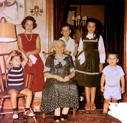 5 Butler children 1956