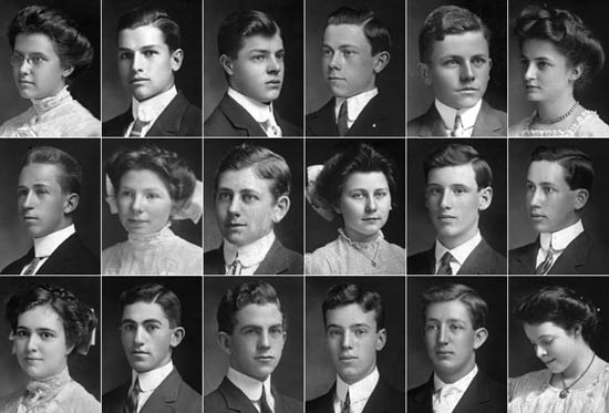 Members of Middletown High class of 1909