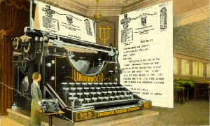 Underwood typerwriter from Atlantic City
